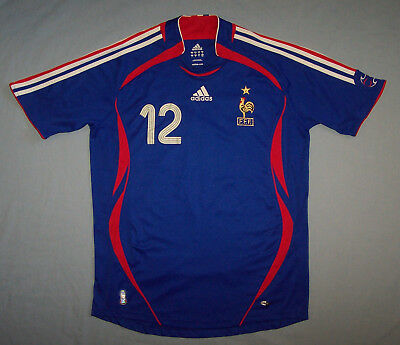 France Thierry Henry 2006 World Cup Blue Football Jersey Shirt Mens Size Large L