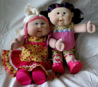 Summertime Doll Clothes SEWING PATTERNS to suit 16 inch Cabbage Patch Kids