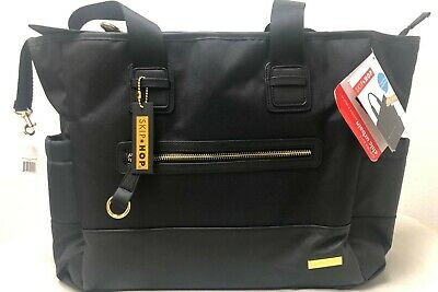 Skip Hop Chelsea Downtown Chic Baby Diaper Backpack w/ Changing Pad Black NEW