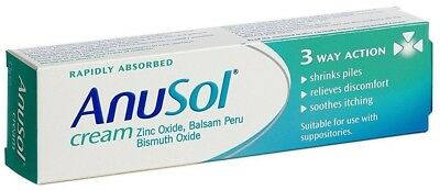 Anusol Cream 3 Way Action 43g Haemorrhoids Piles Swelling  Itching Pain Shrinks