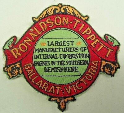 RONALDSON TIPPETT ENGINE Cloth PATCH