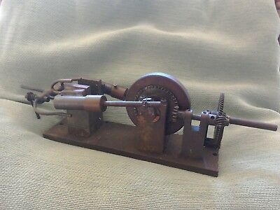 Early Steam Engine.. all solid metal and brass....great item