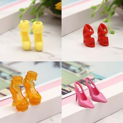 """11"""" Dolls Accessory High Heeled Doll Boot Shoes for Barbie Kids Girl Fun DIY Toy"""