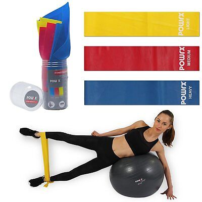 Fitnessband 3er Set inkl. Transportbox I Gymnastikband 150x15 cm I Trainingsband