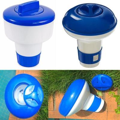 5 inch Deluxe Large Blue and White Floating Swimming Pool Chlorine Dispenser BU
