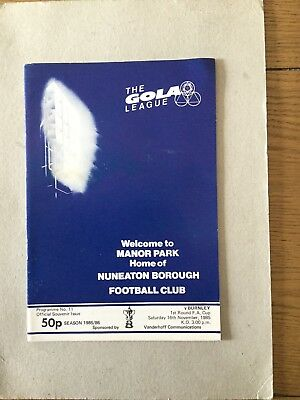 NUNEATON BOROUGH v BURNLEY ( FAC ) 1985/6.