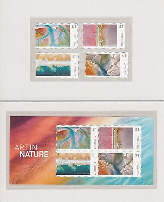 AUSTRALIA 2018 - ART in NATURE Design set & MINISHEET MNH in STAMP PACK