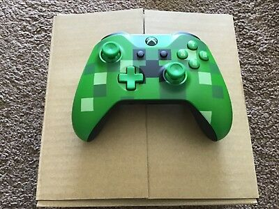 Official Xbox One Minecraft Creeper Wireless Controller Brand New 3.5Mm