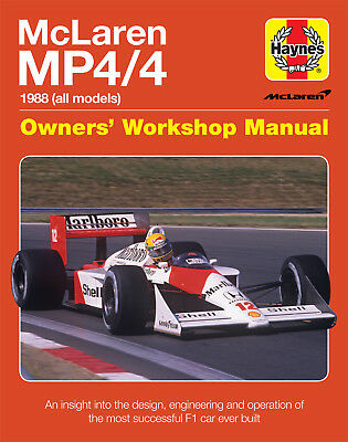 McLaren MP4/4 (Senna Prost Alonso 1988) Buch book manual  F1 Formel Formula 1