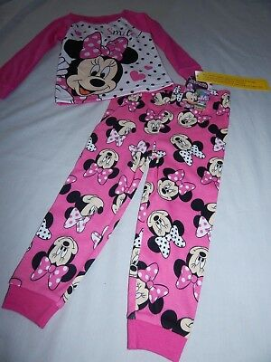 NEW Minnie Mouse Figure Disney Pajamas Outfit Sleep Shirt Pant Girls 2 3 Toddler