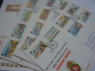 IOM Definitive Issue 1983-85 1p- £ 5 FDC's