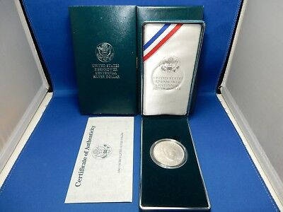 1990-W Eisenhower Commemorative Uncirculated Silver Dollar Coin