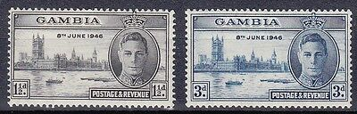 Gambia 1946 Victory Set Mm.