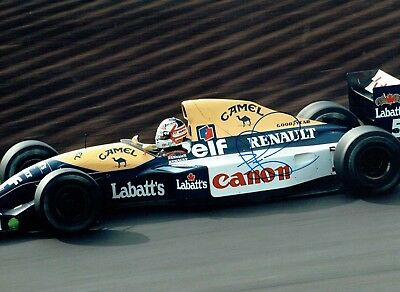 Nigel MANSELL F1 World Champion Signed Autograph 16x12 Photo 1 AFTAL COA Renault