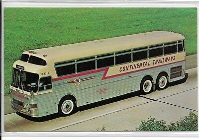 "CONTINENTAL TRAILWAYS-""Silver Eagle""-The Easiest Travel on Earth"