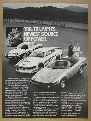 1980 Triumph TR8 convertible Group 44 race & rally cars photo vintage print Ad