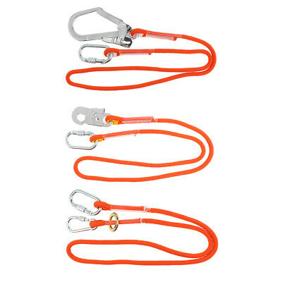 25KN 12mm Safety Harness Lanyard Strap Fall Protection Aerial Rock Climbing