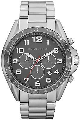 f724e4dba746 Michael Kors Bradshaw Chronograph Grey Dial Silver Tone Men s Watch MK8245  SD3