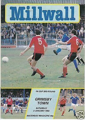 Millwall V Grimsby Town  Fa Cup  9/1/82