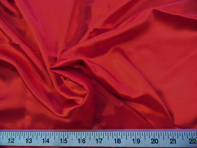 Discount Fabric Charmeuse Silky Bridal Satin Apparel Red CS07