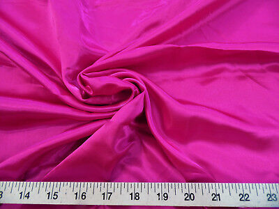 Discount Fabric Charmeuse Silky Bridal Satin Apparel Fuschia Pink CS12
