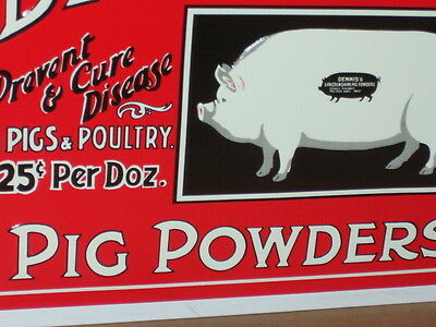 Pig Medicine -Shows Picture of Hog on a Hog-NOW THATS UNUSUAL- Lincolnshire SIGN