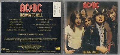 AC/DC - Highway to Hell CD 1990 EARLY ORIGINAL PRESS ATLANTIC SD 19244-2