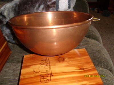 Vintage Copper Mixing Bowl Made In England