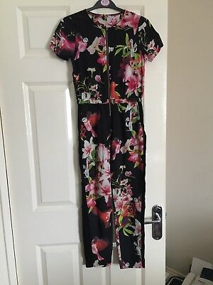 Ted Baker - Girls Floral Jumpsuit Age 9-10 excellent condition.