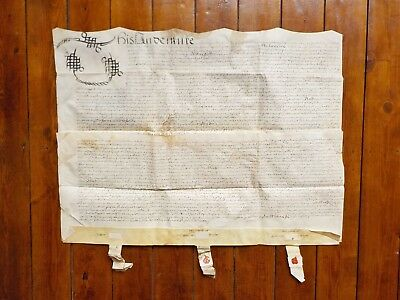 1690 Over Whitacre Warwickshire William and Mary Vellum Deed Document Indenture