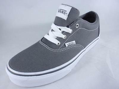 3fb10c03eabeb6 VANS Doheny Kids Sneakers Gray+White Athletic Casual Skate Shoes Boys Youth