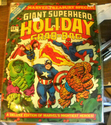 VINTAGE Marvel Treasury Special Giant Superhero Holiday Grab-Bag (1974, Marvel)