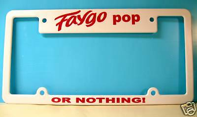 Faygo Pop License Plate Frame Collectible Icp Awesome!