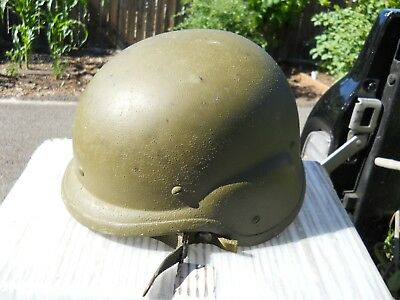 PASGT STEMACO US Army Made With Kevlar Helmet with chin strap Size:MED 1988