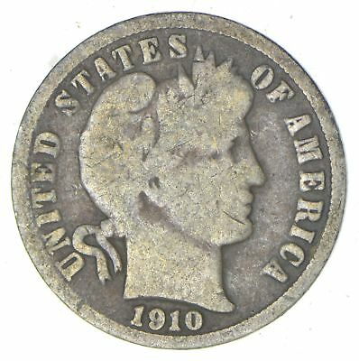 1910-D Barber Liberty 90% Silver United States Dime *262