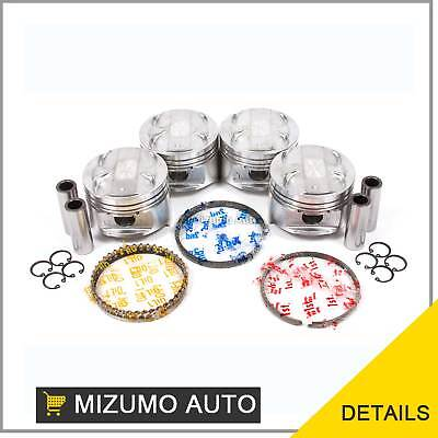 Pistons w/ Rings @0.50mm fit 01-05 Mazda Miata MX-5 1.8L DOHC 16V BP