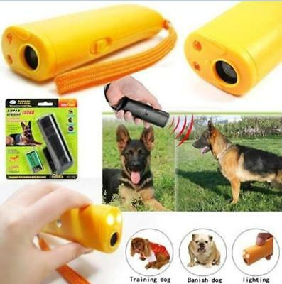 LED Ultrasonic Aggressive Dog Pet Repeller Training Stop Anti Barking Device