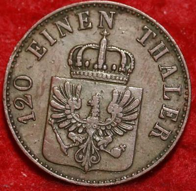 1851 Germany 3 Pfenninge Foreign Coin