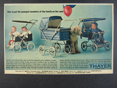 1963 Thayer Baby Carriages Strollers 3 Models photo vintage print Ad