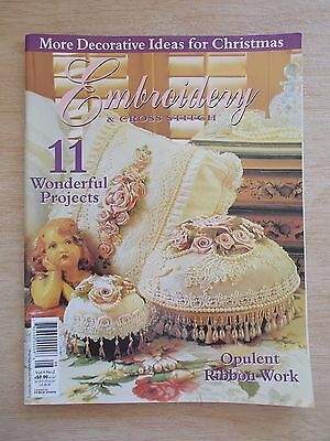 Embroidery & Cross Stitch Vol 9 #2~Baby Bishop~Acorns~Butterflies~Cushion~Xmas