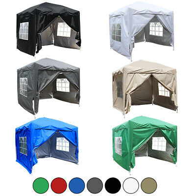 2.5x2.5m Outdoor Pop Up Gazebo Garden Party Tent with 2 Windbars & 4 Leg Weights