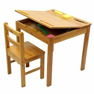 Childrens Desk and Chair, Made of Natural Bamboo