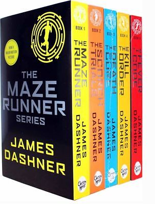 The Maze Runner 5 Books Collection Set by James Dashner Sealed Set