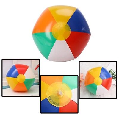 6 pc Inflatable Beach Balls Kids Swim Pool Accs Summer Holiday Sand Water Toys