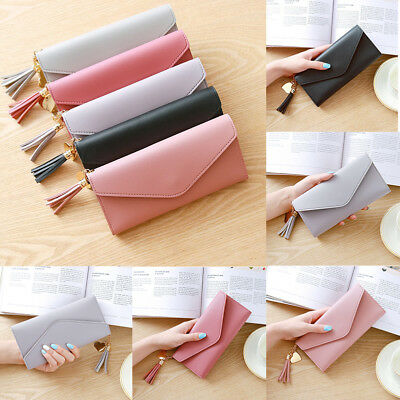 Fashion Women Lady Girl PU Leather Clutch Wallet Long Card Holder Purse Handbag