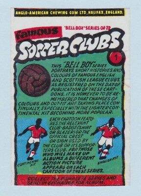 Trade Card/Wrapper - Famous Soccer Clubs (Anglo-American) Select a Card/Wrapper
