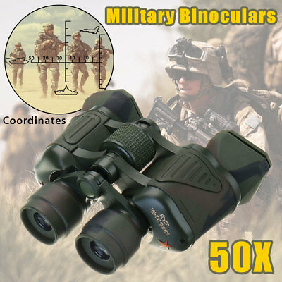 50X Army Optics Military Zoom Binoculars HD Hunt Camping Night Vision Telescope