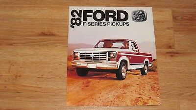 "1982 ""original"" Ford F - Series Pickup  Dealership Sales Brochure"