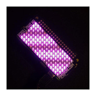 Pimoroni PIM336 Scroll pHAT Pink 119 LED Array for Raspberry Pi