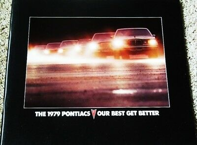 1979 Pontiac Full Line Larger Deluxe 48-Page Sales Brochure Firebird Trans Am ++